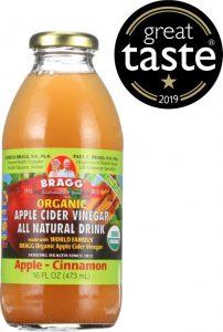 Bragg Organic Apple Cider Vinegar Drink - Apple & Cinnamon wins 1 star Great Taste Award 2019
