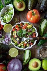 bowl of fresh guacamole